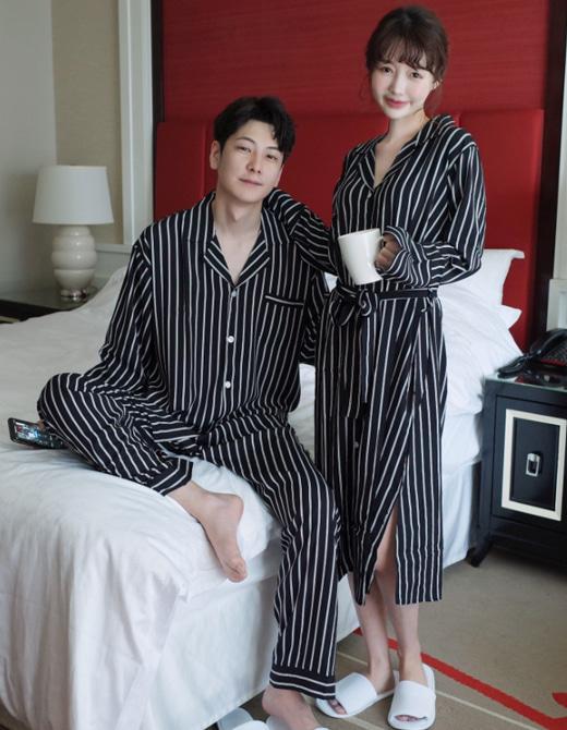 스트라이프 커플잠옷 파자마 신혼부부